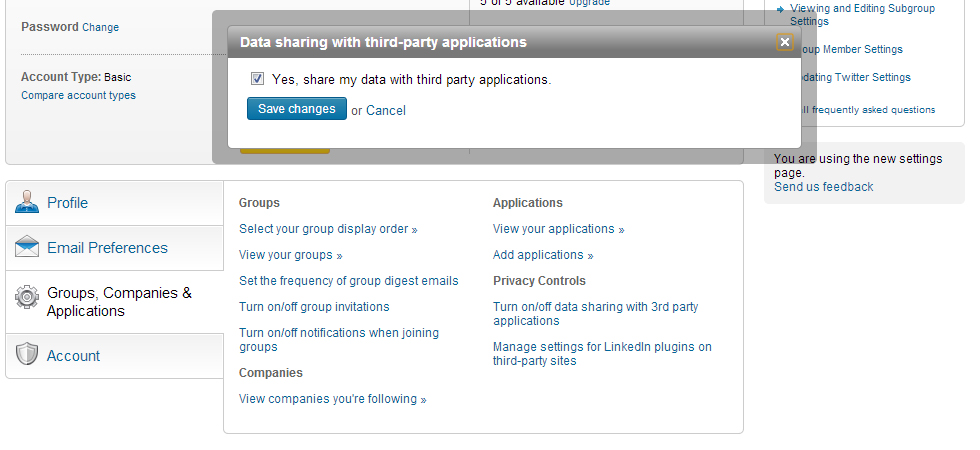 Linkedin Privacy