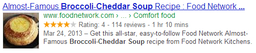 Recipe Rich Snippets Structured Data