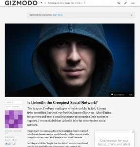 Gizmodo LinkedIn post