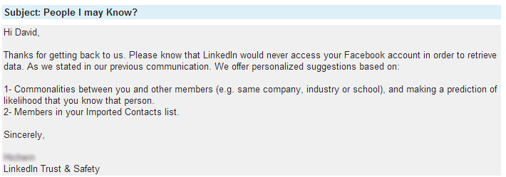 LinkedIn Customer Support