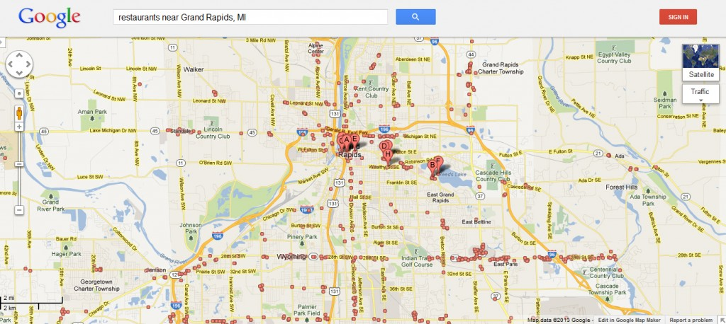 Old Google Maps Grand Rapids Restaurants